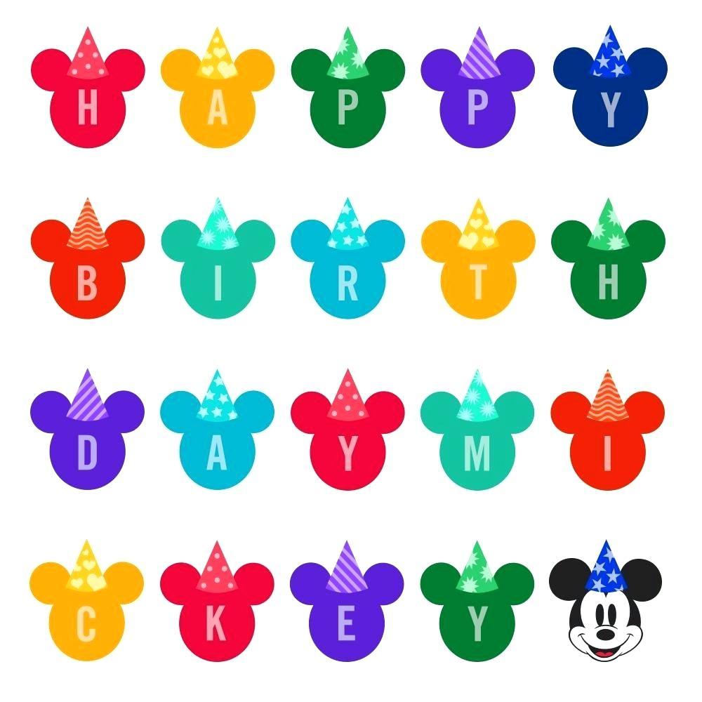 1000x1000 Disney Happy Birthday Clip Art Birthday Cards Greeting Cards