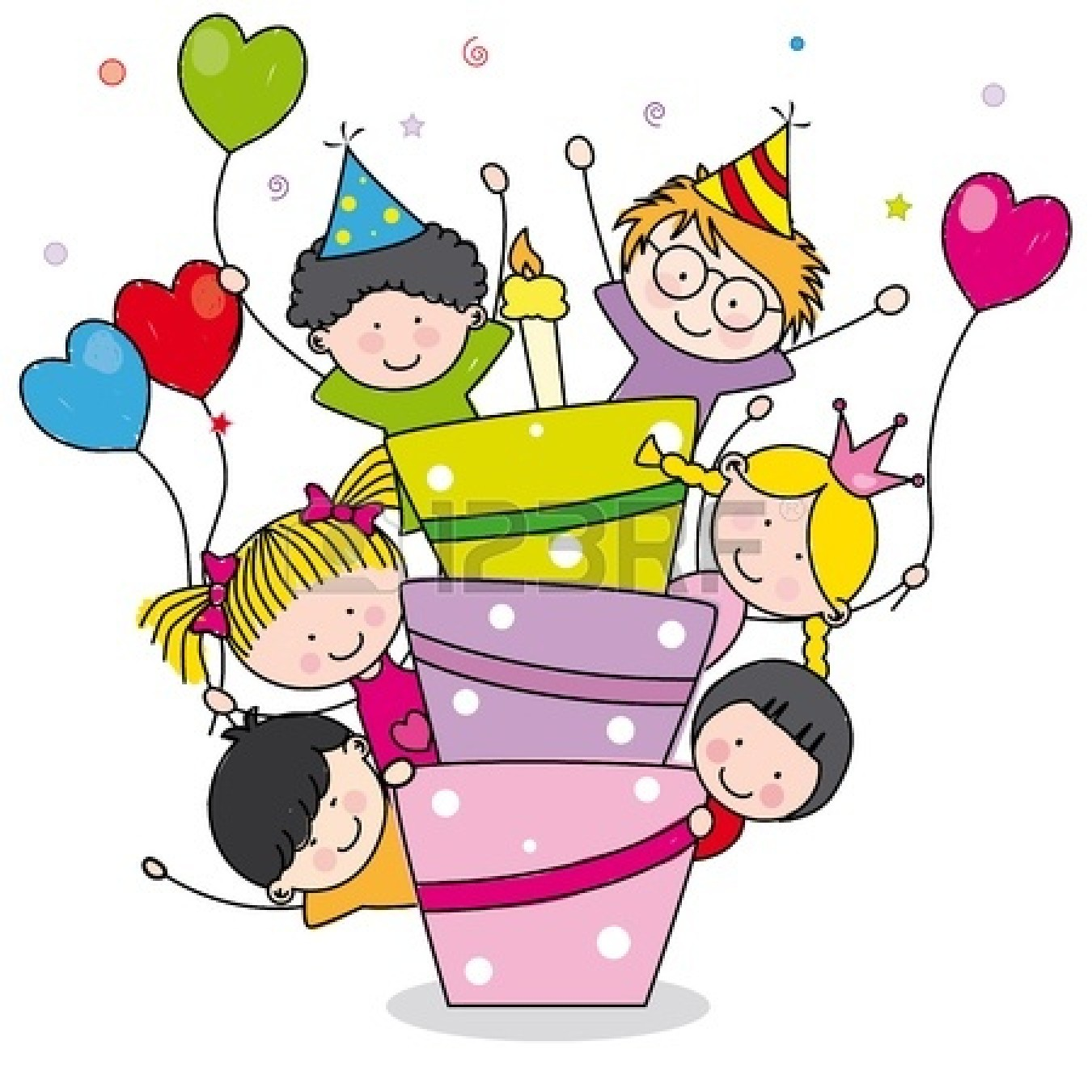 1350x1350 Kids Birthday Party Clip Art Clipart Panda
