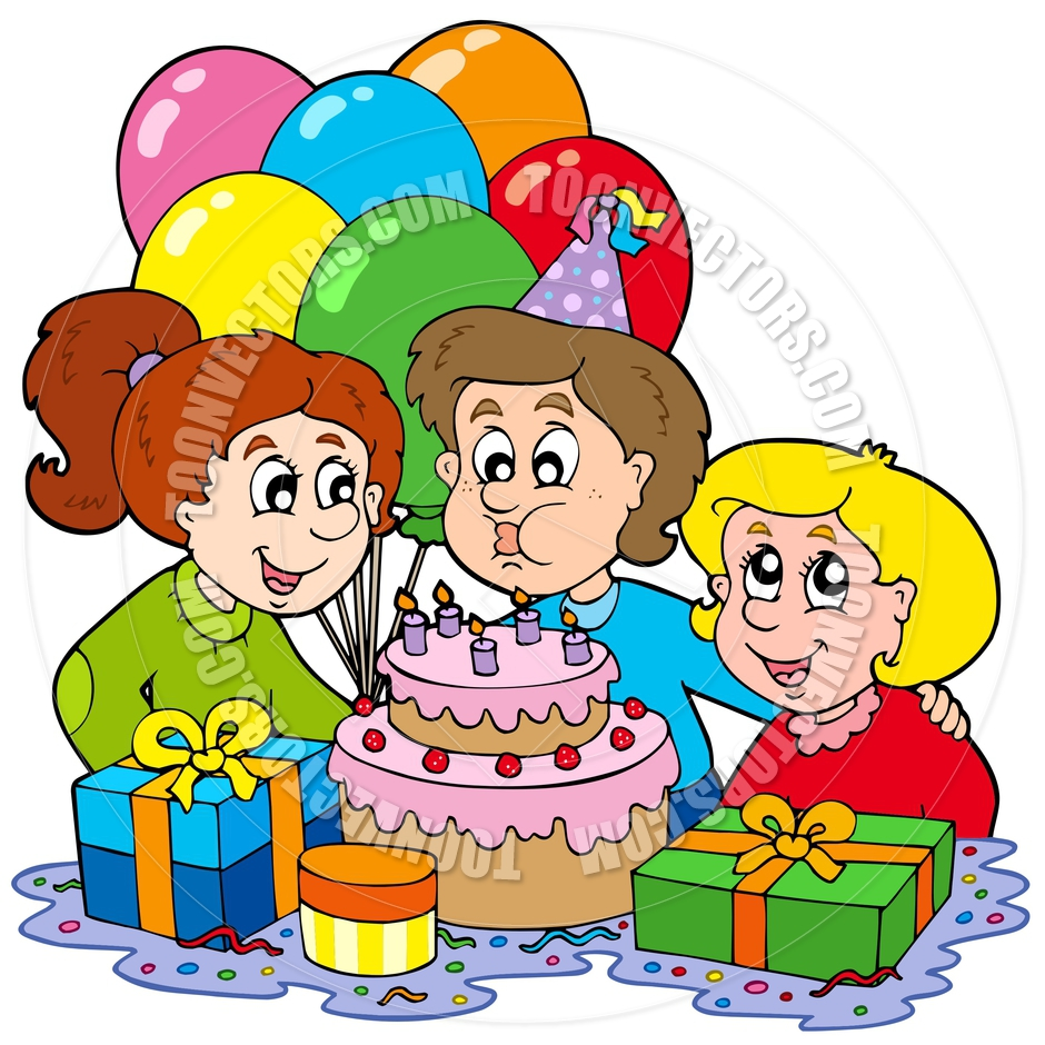 940x940 Girls Birthday Party Clipart