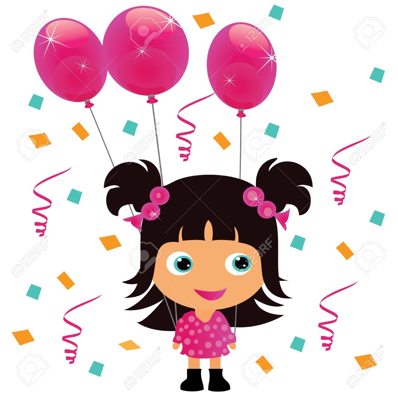 1300x1300 Collection Of Little Girl Birthday Clipart High Quality
