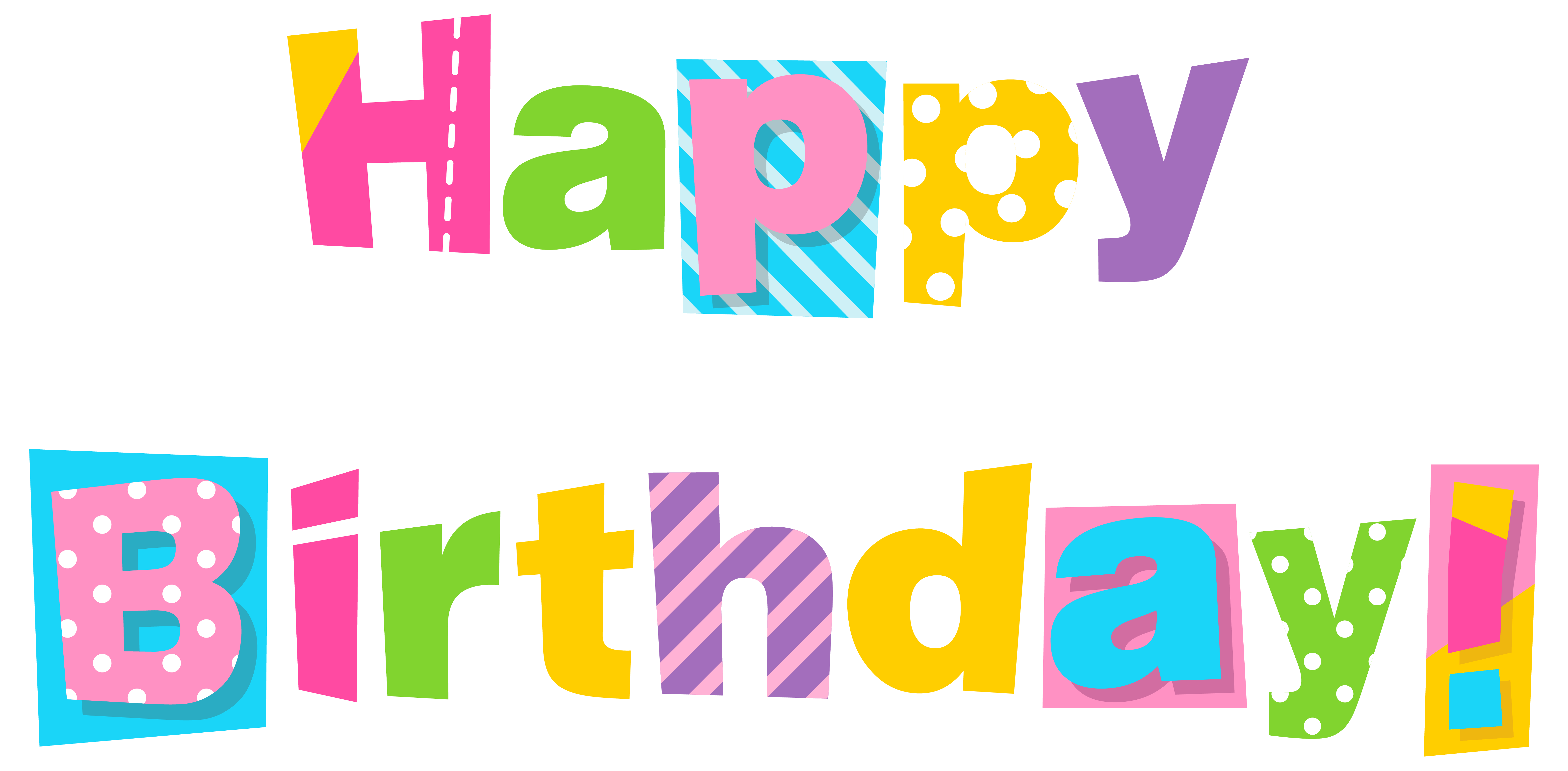 6332x3114 Colorful Happy Birthday Clipart Imageu200b Gallery Yopriceville