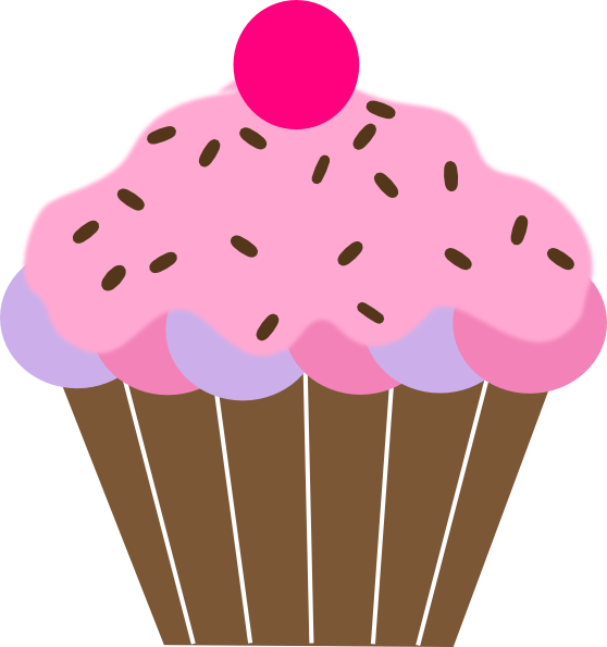 558x595 Cute Birthday Cupcake Clip Art Free Clipart Images