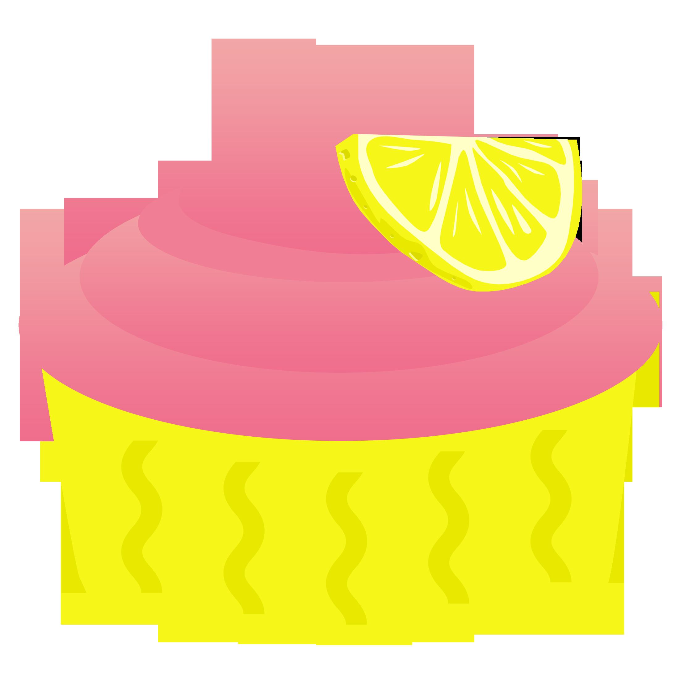 2202x2202 Pink Lemonade Cupcake Clipart Cupcake Clipart