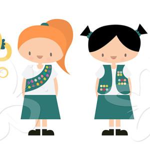 300x300 Girl Scout Birthday Clip Art