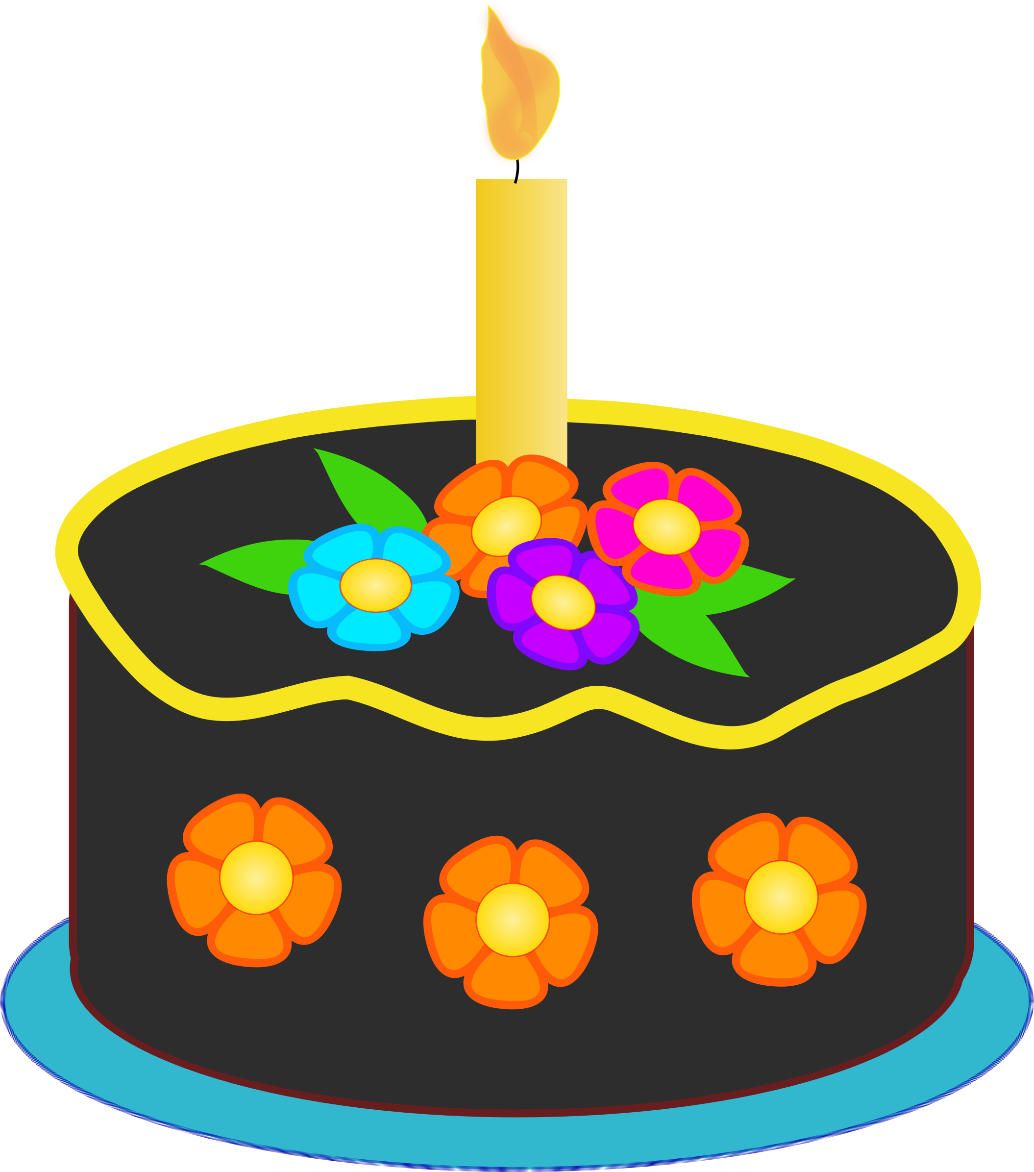 2110x2391 Image For Free Birthday Cake With Colorful Flowers High Resolution