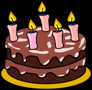 298x291 Birthday Cake For A Girl Clip Art