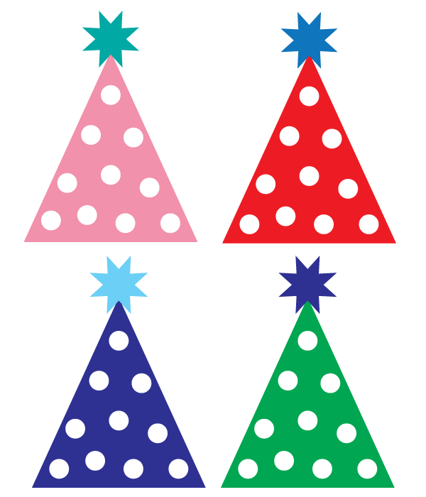 600x700 Free Party Hat Clipart Designs