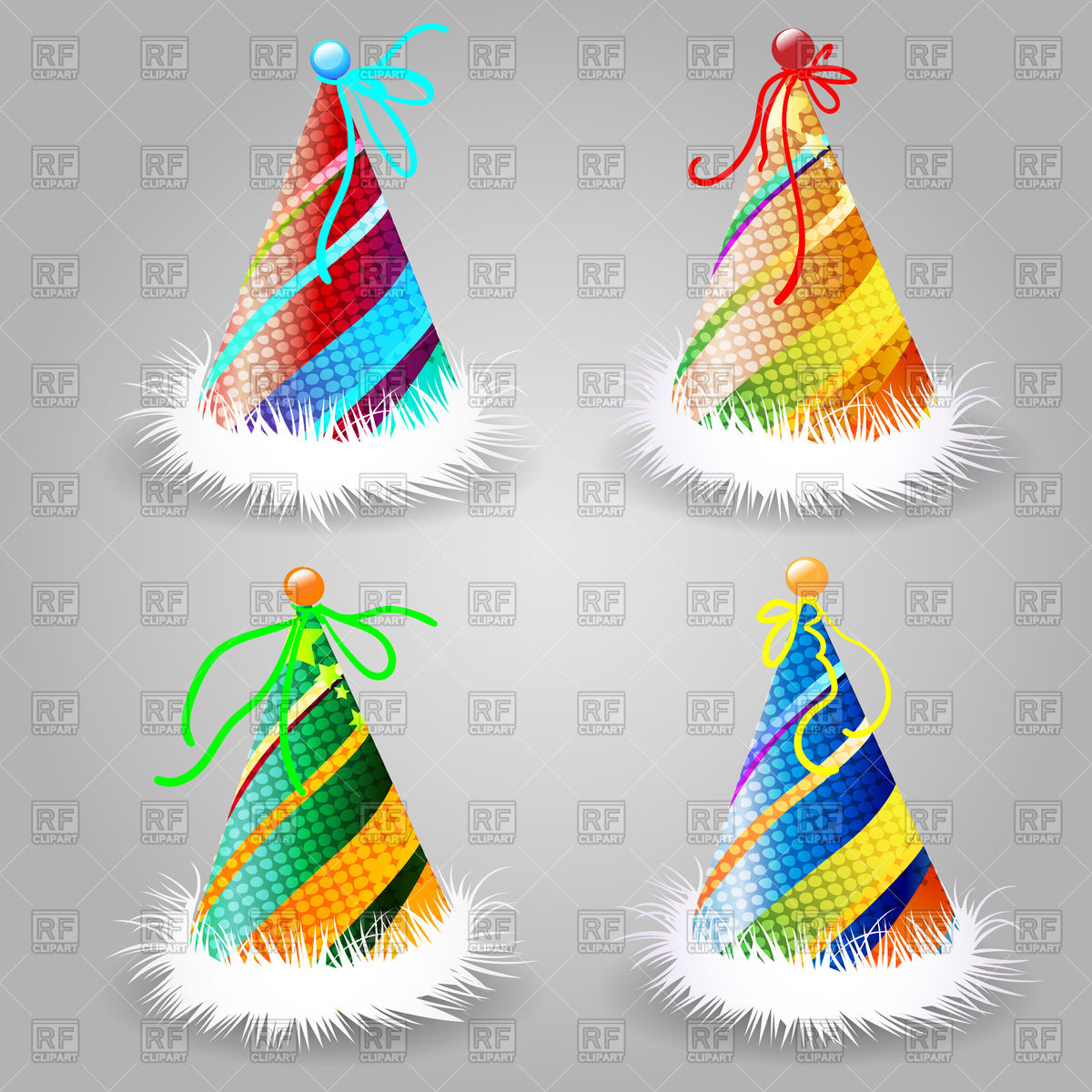 1200x1200 Party Or Birthday Hat Royalty Free Vector Clip Art Image