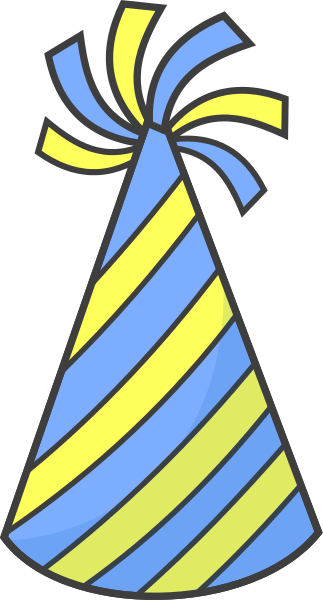 323x600 Birthday Hat Clipart Birthday Hat Striped Blue Yellow Images