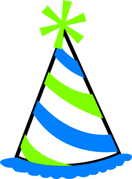 438x594 Party Hat Clip Art Green And Blue Party Hat Clip Art