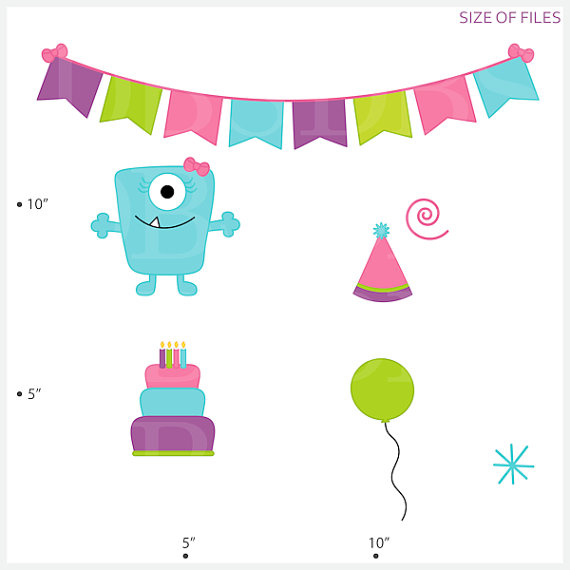 570x570 Monster Aliens Clipart Clip Art Birthday Party