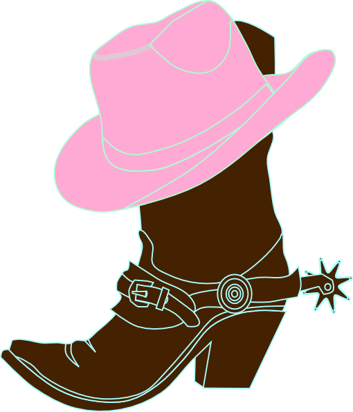 510x595 Cowgirl Hat And Boot Clip Art