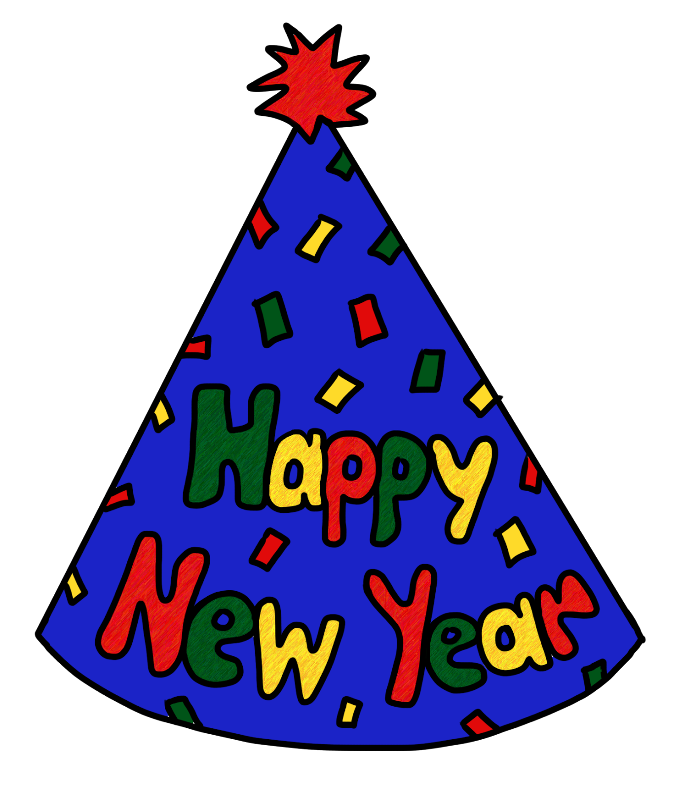 1376x1600 Happy New Year Hat Clipart
