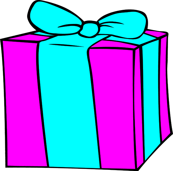 600x593 Image Of Birthday Present Clipart