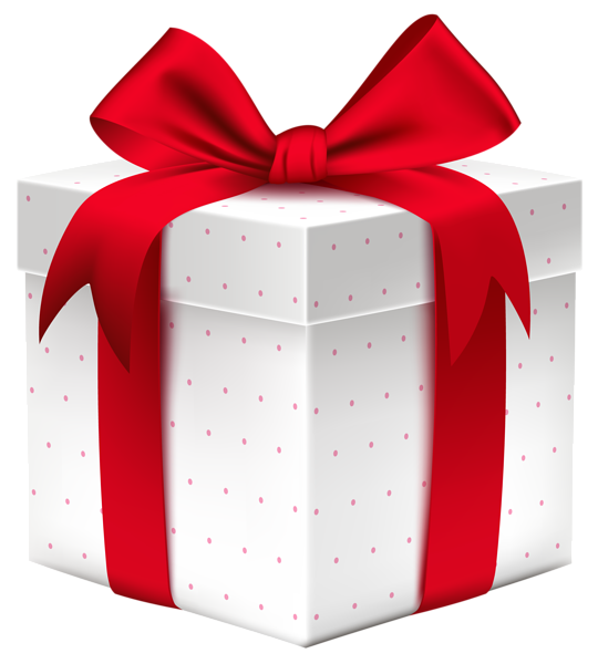540x600 White Gift Box With Red Bow Png Image Png Images