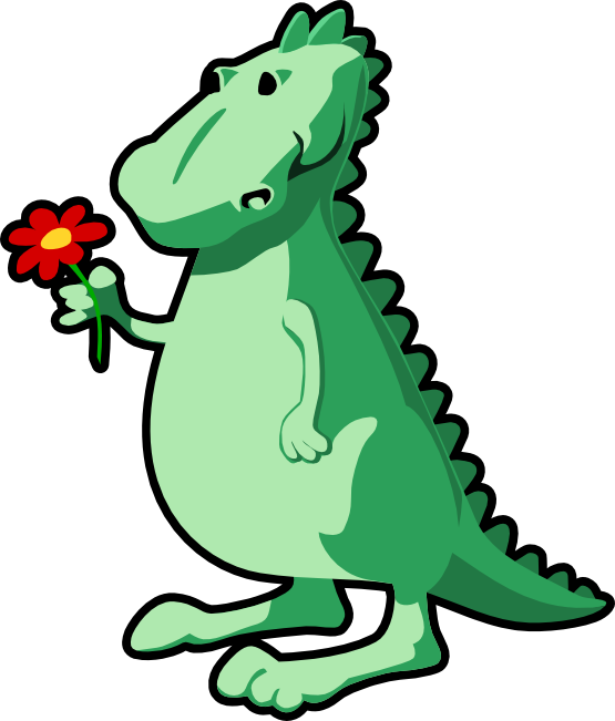 555x651 Clip Art Dragon With Flower Christmas Xmas