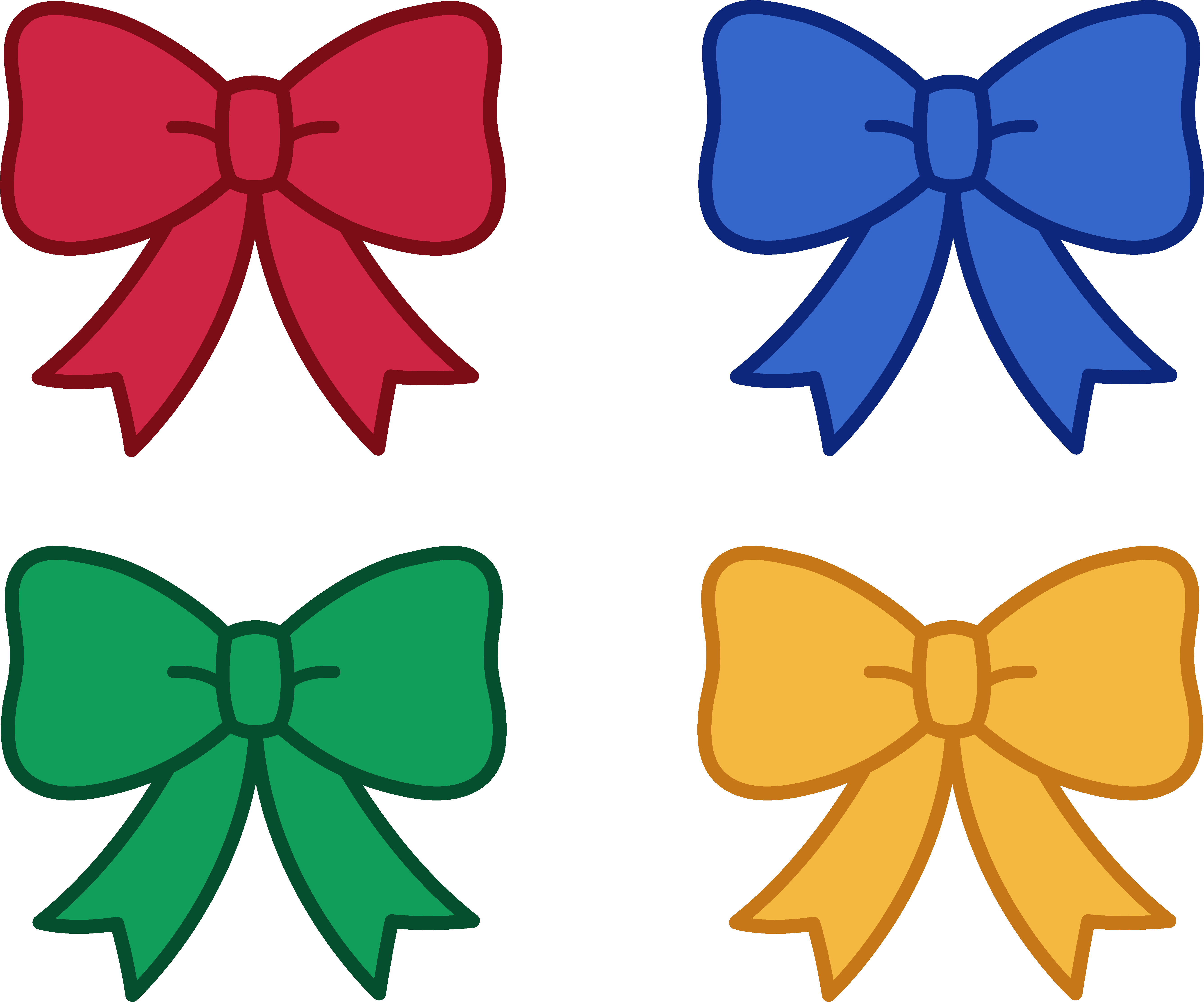 5345x4445 Christmas Bows Clip Art Happy Holidays!