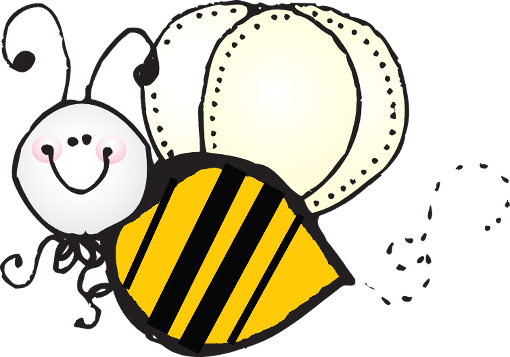 1950x1366 Cute Baby And Mom Bumblebee Black White Clipart