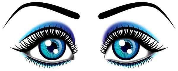 600x240 Eyes Clipart Eye Clip Art Black And White Clipart Panda Free
