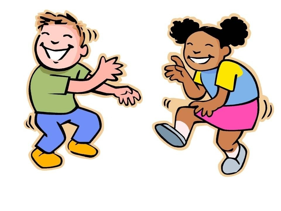 960x720 Clipart Kids Dancing Black And White