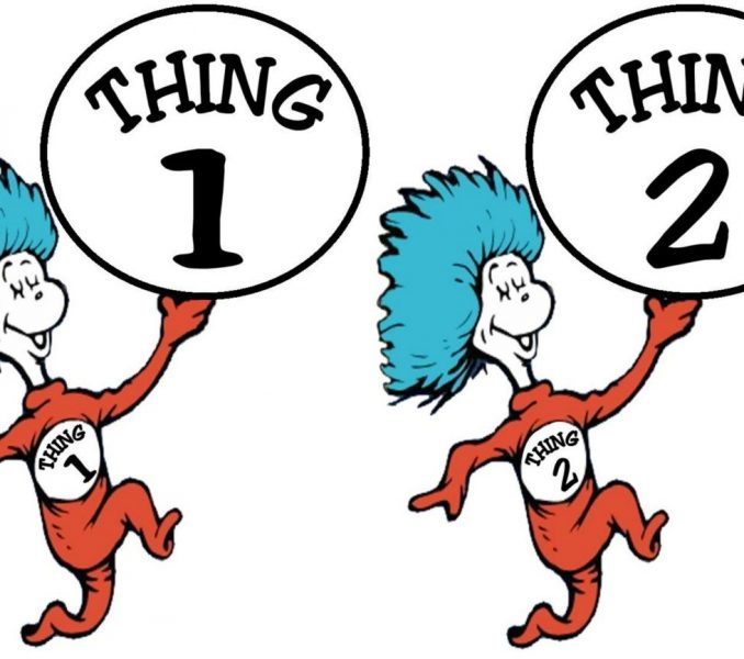 678x600 Thing One And Thing Two Clip Art Kids Coloring