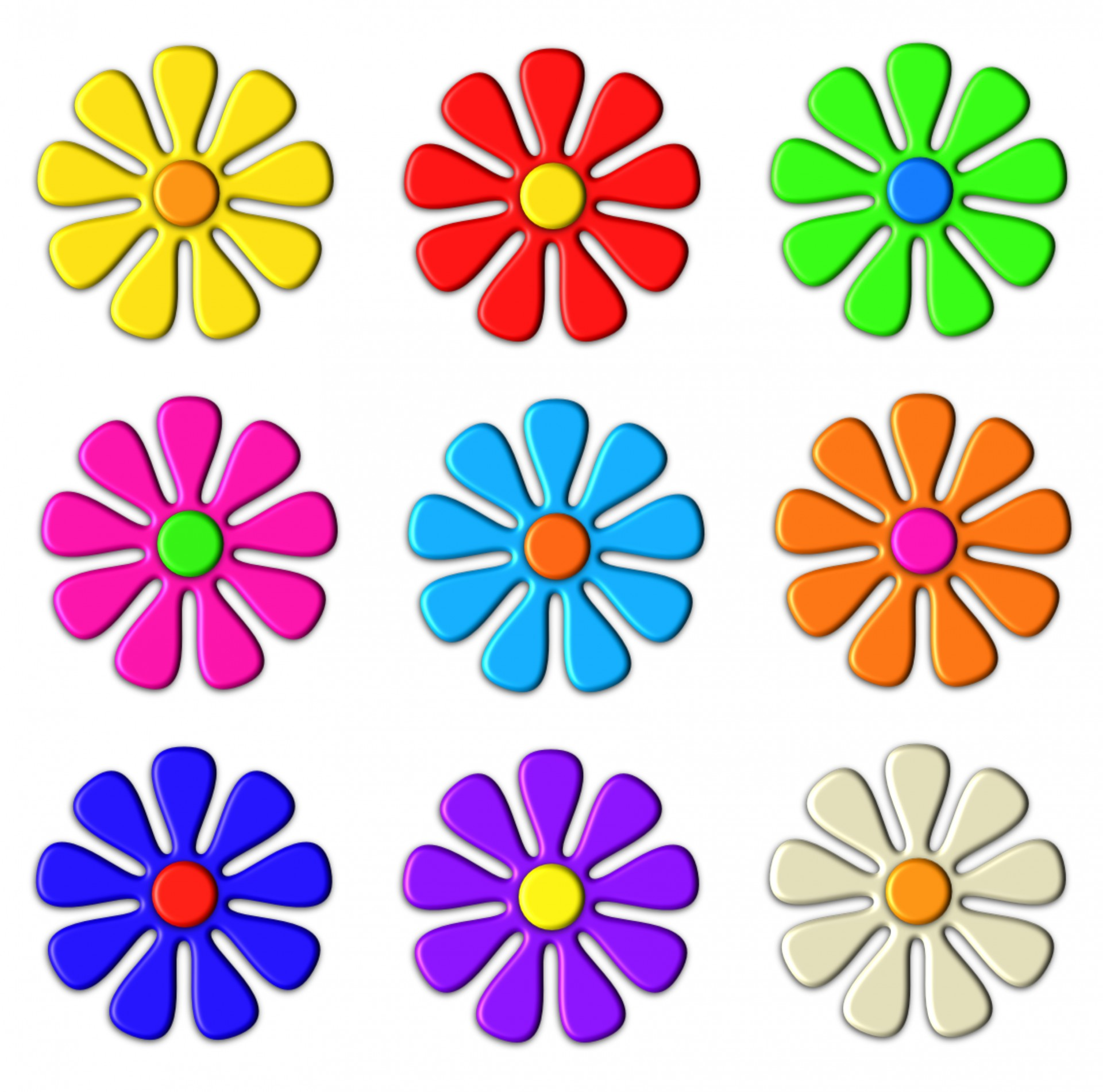 1920x1901 3d Flower Clip Art Free Stock Photo