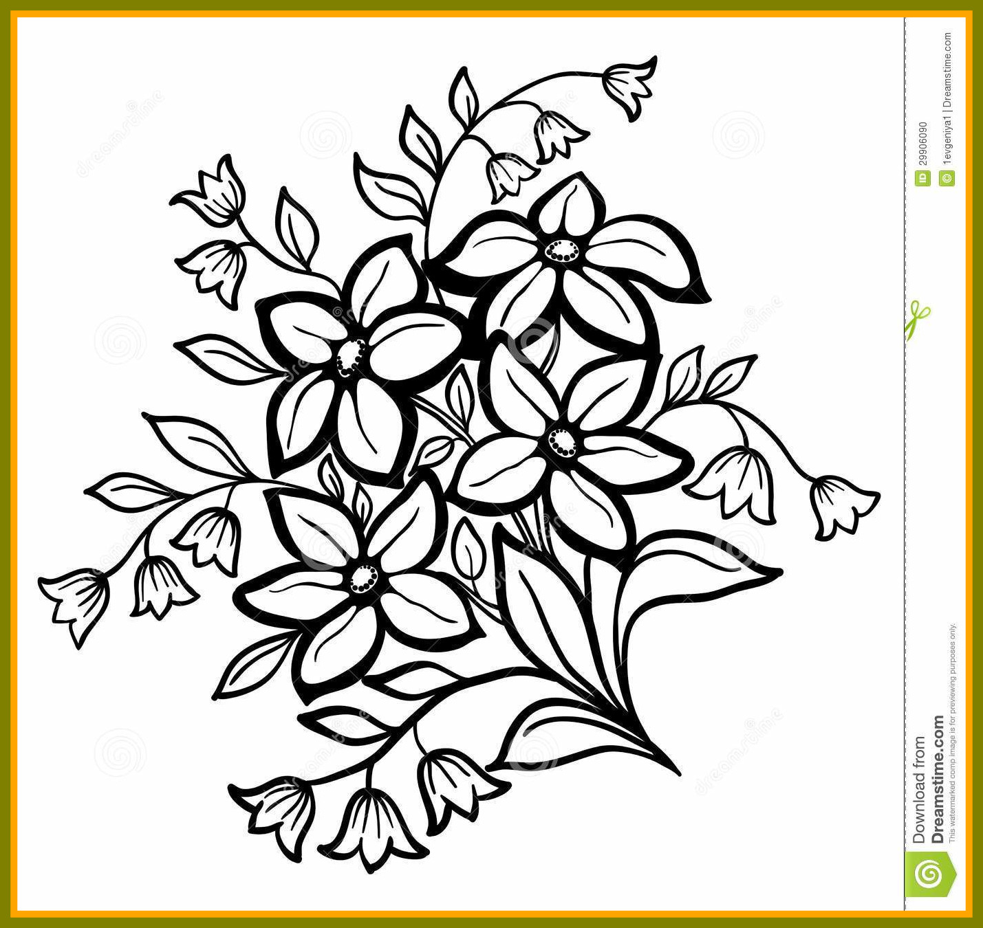 1429x1350 Amazing Clip Art Of A Coloring Page Hibiscus Flower Bouquet By
