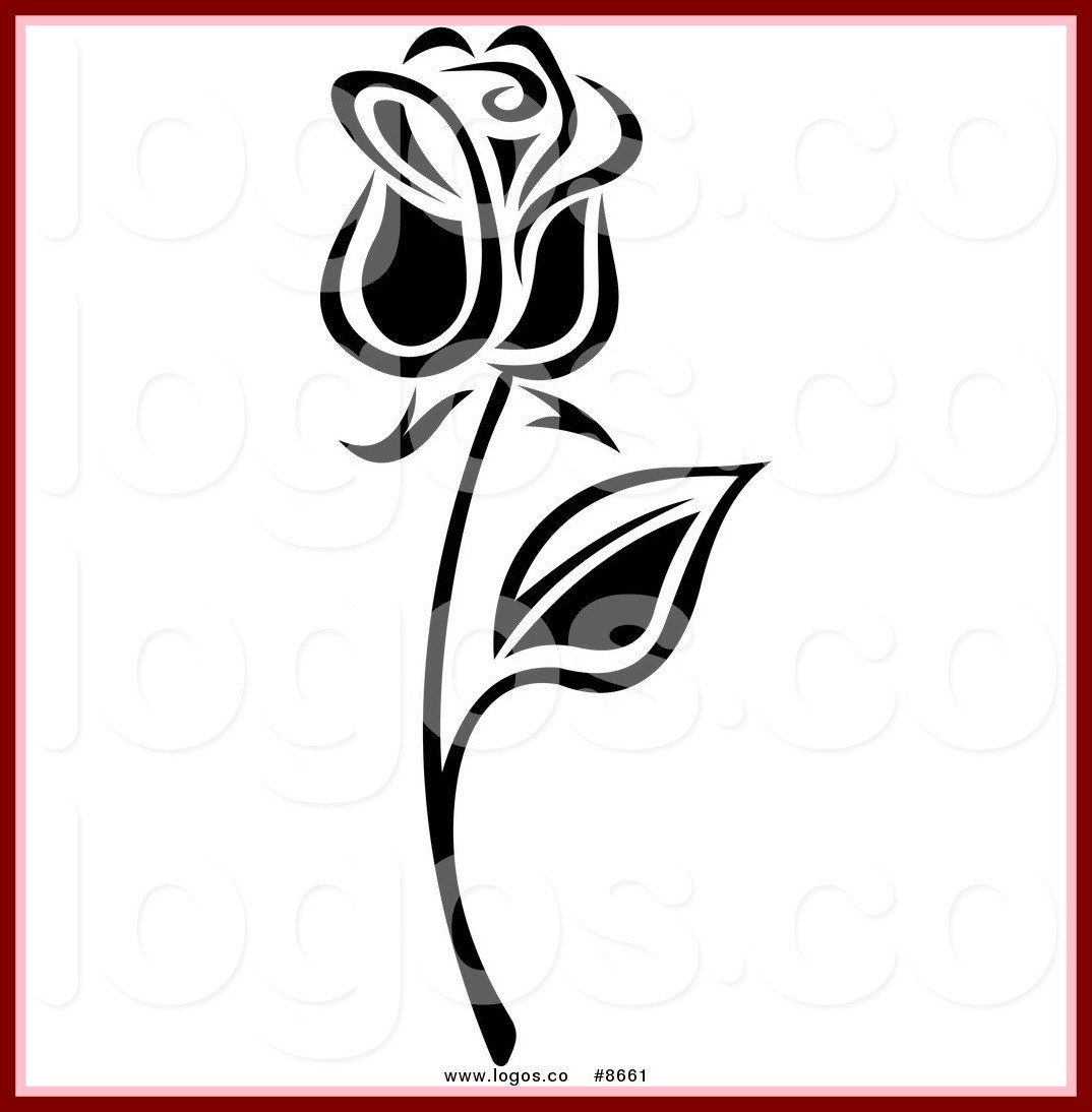 1074x1094 Best Royalty Clip Art Vector Black And White Long Stemmed Rose