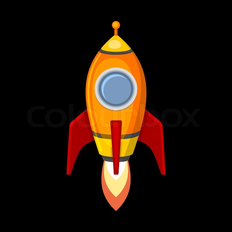 800x800 Collection Of Rocket Clipart Black Background High Quality