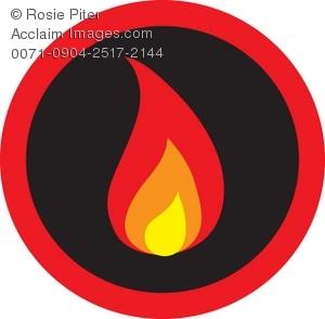300x294 Cliprt Illustration Of Flames On Black Background, Inside