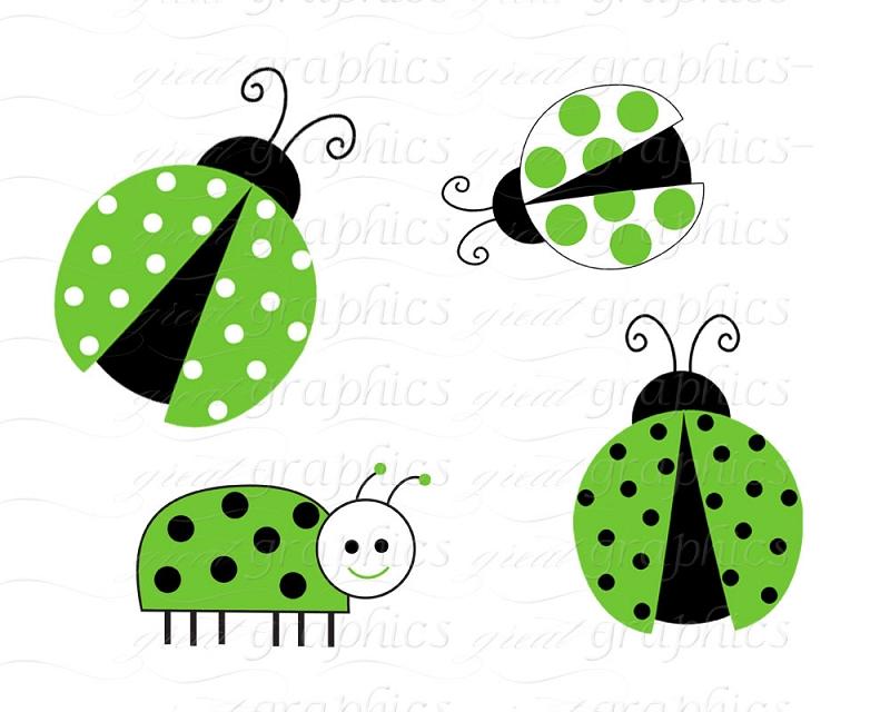 800x640 Printable Ladybug Clip Art Digital Background Green Ladybug