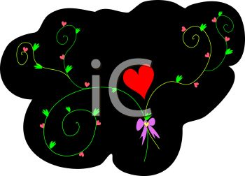 350x252 Royalty Free Clip Art Image Valentine Design Of A Red Heart
