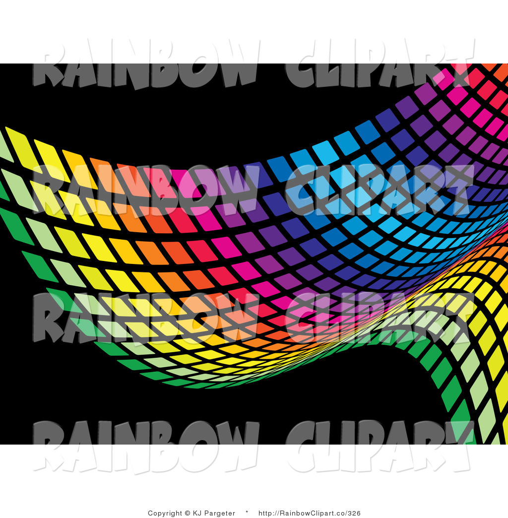 1024x1044 Vector Clip Art Of A Colorful Rainbow Wave Pattern Of Green
