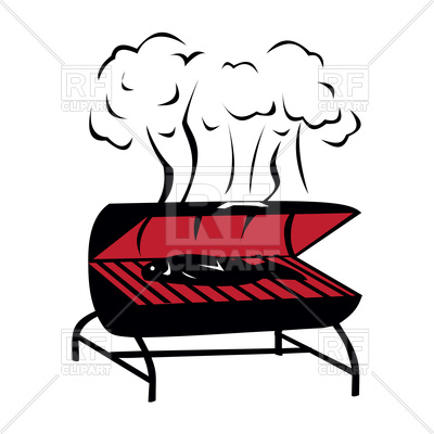 400x400 Black Bbq Icon On White Background Royalty Free Vector Clip Art