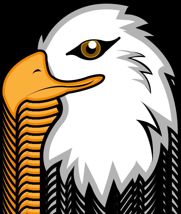 600x709 Black Eagle Clipart Transparent Background