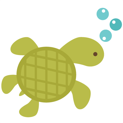 432x432 Black Background Turtle Clipart Collection