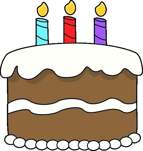 474x500 Birthday Cake Clip Art Preview Third Birthday Cake With A Number