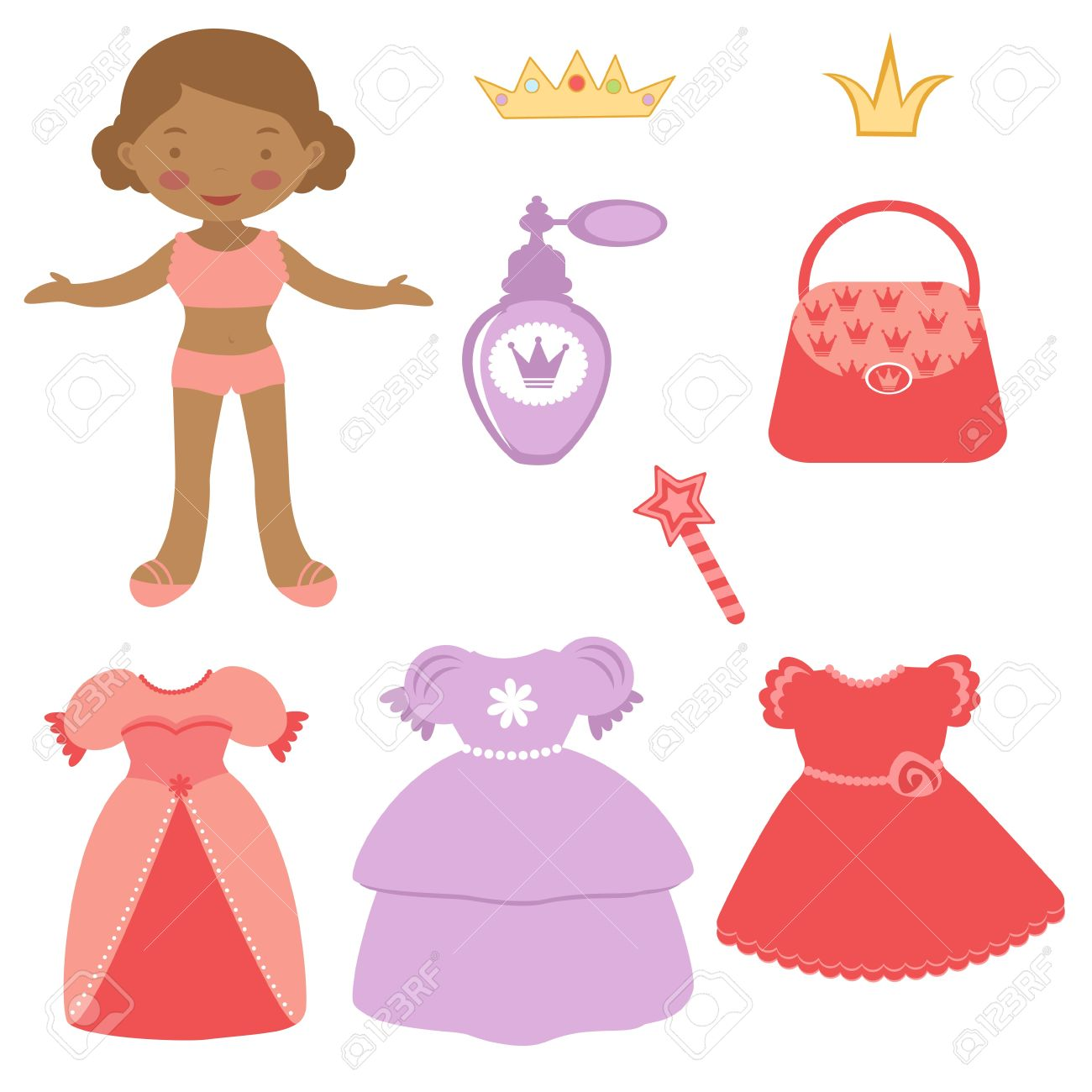 1300x1300 Multiracial Outline Drawing Paper Doll Clipart