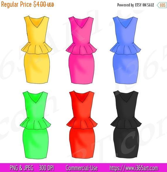 570x584 50% Off Dress Clipart, Dress Clip Art, Fashion, Scrapbooking