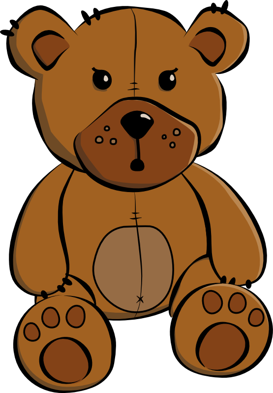 555x798 Clipart Of A Baby Bear