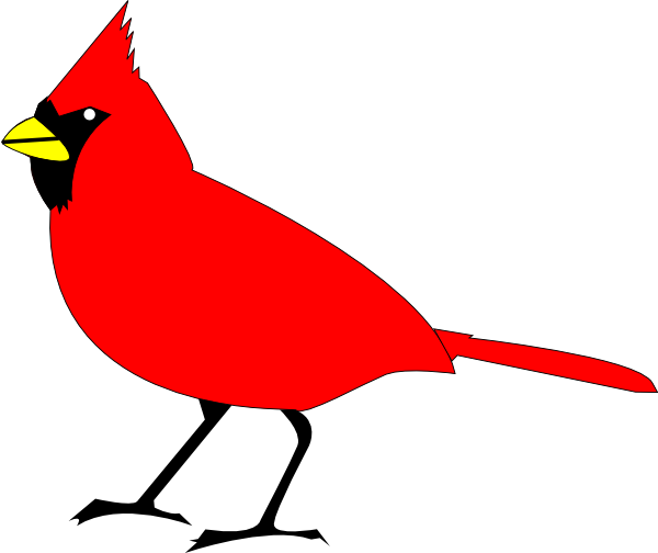 600x504 Collection Of Red Bird Clipart Black And White High Quality