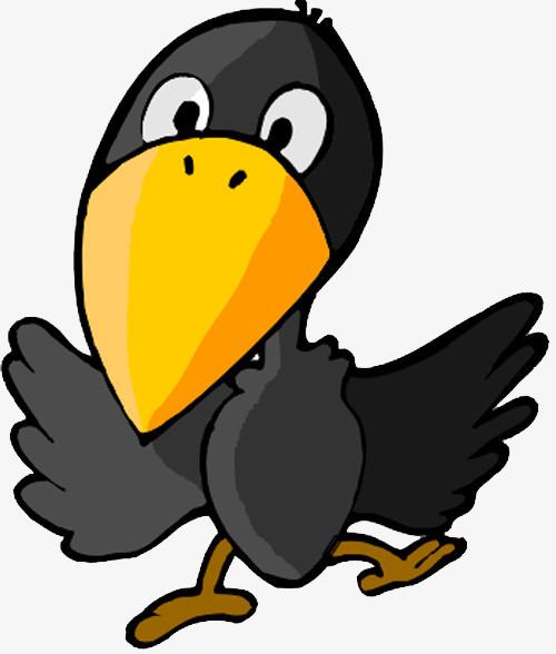 500x588 Cute Cartoon Raven +, Crow, Cartoon Crow, Black Bird Png Image