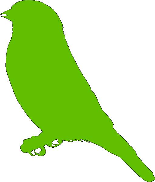 510x599 Lighter Green Bird Clip Art