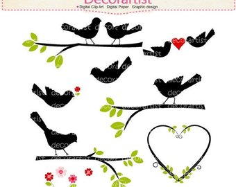 340x270 Bird Clip Art Etsy