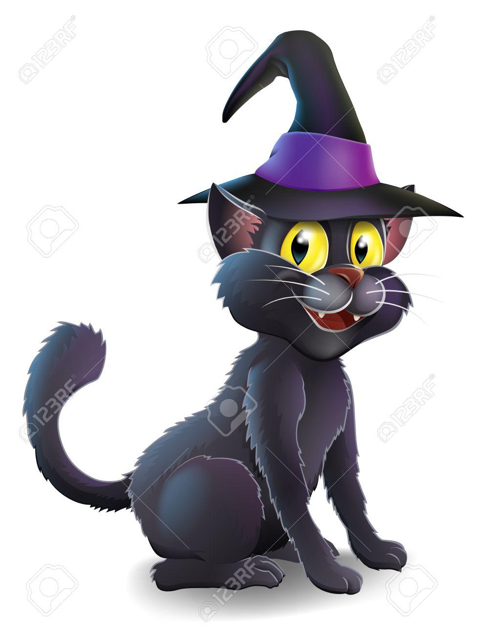 995x1300 Black Cat Clipart Witch Hat