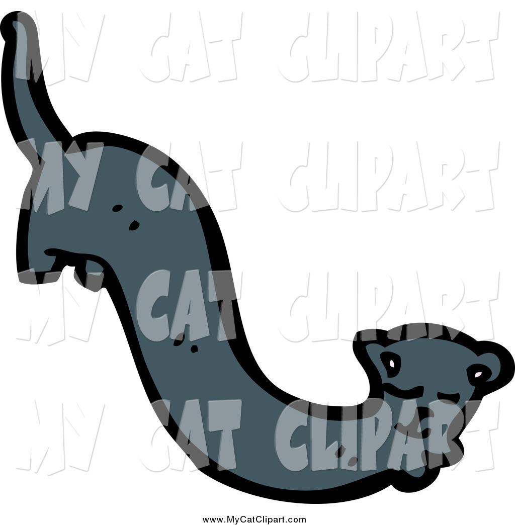 1024x1044 Clip Art Of A Long Black Cat By Lineartestpilot