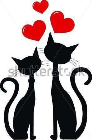 296x450 Dos Gatos Negros En El Amor (Clip Arts