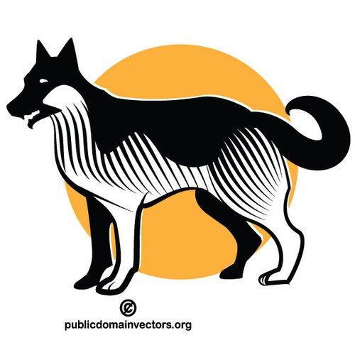 500x500 20505 Cat And Dog Silhouette Clip Art Public Domain Vectors