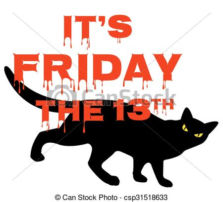 450x409 Card For Friday 13 With Black Cat Vectors