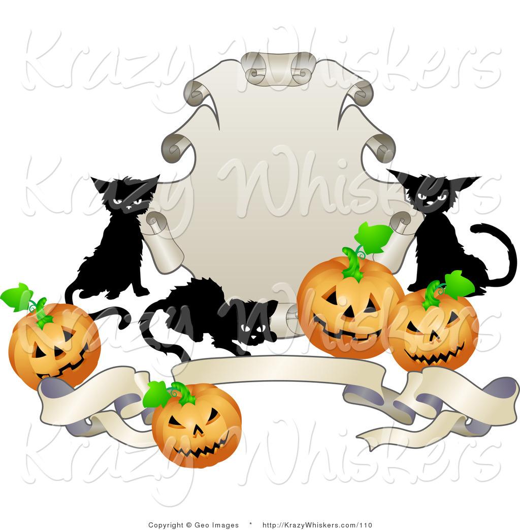 1024x1044 Black Cat Clipart Halloween Banner